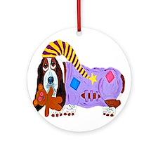 Basset Hound Bedtime Ornament (Round)
