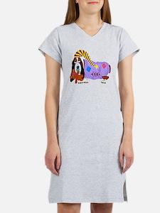 Basset Hound Bedtime Women's Nightshirt