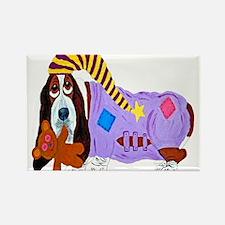Basset Hound Bedtime Rectangle Magnet (100 pack)