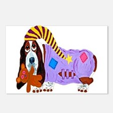 Basset Hound Bedtime Postcards (package Of 8)