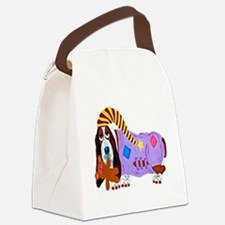 Basset Hound Bedtime Canvas Lunch Bag