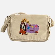 Basset Hound Bedtime Messenger Bag