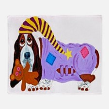 Basset Hound Bedtime Throw Blanket