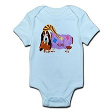 Basset Hound Bedtime Infant Bodysuit