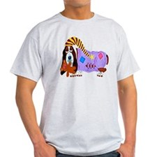 Basset Hound Bedtime Light T-Shirt