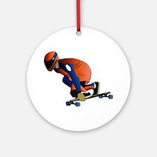 Longboarding - No Txt Ornament (Round)