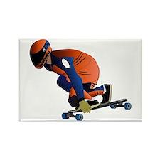 Longboarding - No Txt Rectangle Magnet