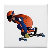 Longboarding - No Txt Tile Coaster