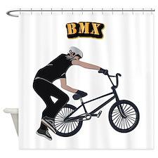 BMX With Text Shower Curtain