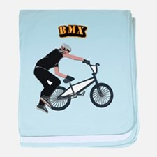 BMX With Text baby blanket