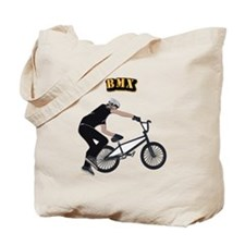 BMX With Text Tote Bag
