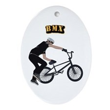 BMX With Text Ornament (Oval)