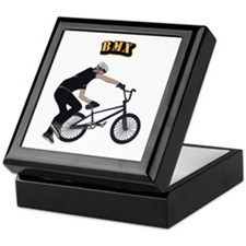 BMX With Text Keepsake Box