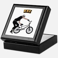 BMX With Text Keepsake Box