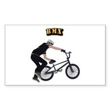 BMX With Text Decal
