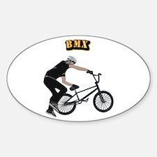 BMX With Text Sticker (Oval)