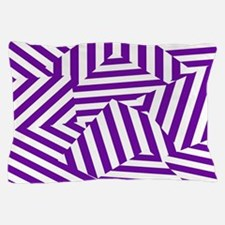 Purple Funk Stripe Pillow Case
