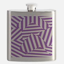 Purple Funk Stripe Flask