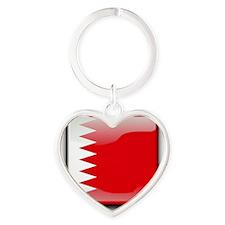 Flag of Bahrain Heart Keychain