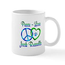 Peace Love Jack Russells Mug