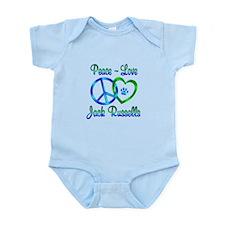 Peace Love Jack Russells Infant Bodysuit