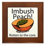 Imbush That Rotten Peach Framed Tile