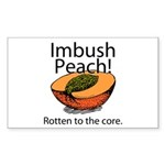 Imbush That Rotten Peach Rectangle Sticker