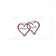 A true love story: personalize Aluminum License Pl