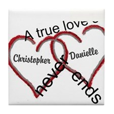 A true love story: personalize Tile Coaster