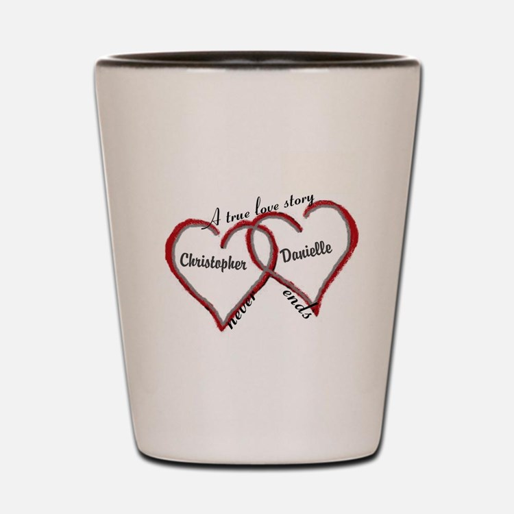 A true love story: personalize Shot Glass