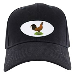 Gold Brabanter Rooster Baseball Hat