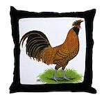 Gold Brabanter Rooster Throw Pillow