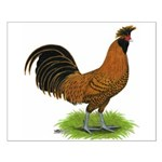 Gold Brabanter Rooster Small Poster
