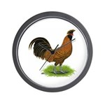 Gold Brabanter Rooster Wall Clock