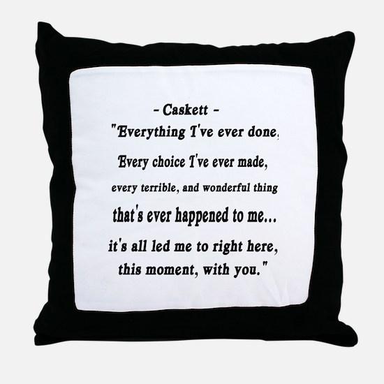 Caskett Throw Pillow