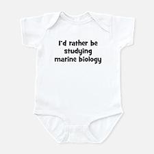 Study marine biology Infant Bodysuit