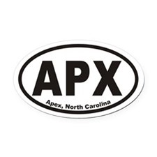 Apex North Carolina Apx Oval Oval Car Magnet