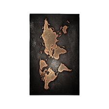 Vintage World Map 3'x5' Area Rug