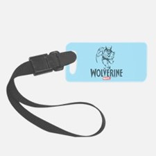 Blue Wolverine Luggage Tag
