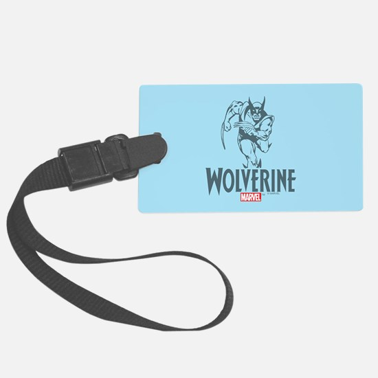 Blue Wolverine Luggage Tag