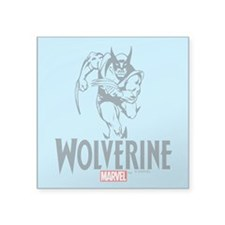 "Blue Wolverine Square Sticker 3"" x 3"""