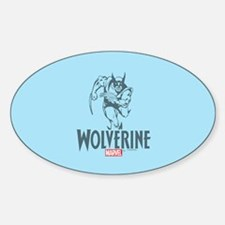 Blue Wolverine Decal