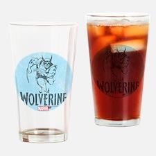 Blue Wolverine Drinking Glass