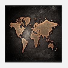 Vintage World Map Tile Coaster