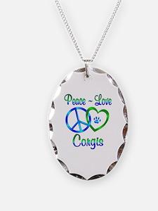 Peace Love Corgis Necklace