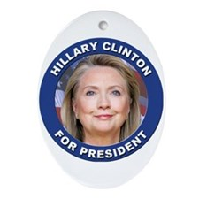 Hillary Clinton for President Ornament (Oval)