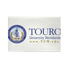 Tuw Logo + Name Rectangle Magnet