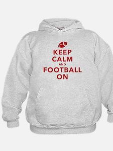Keep Calm and Football On Hoodie