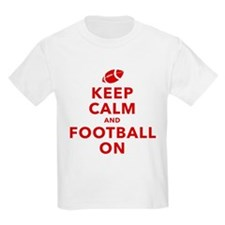 Keep Calm and Football On T-Shirt