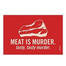 Meat is murder, tasty murder Postcards (Package of